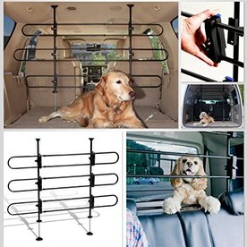 Solvit Tubular Car Pet Barrier ~32 to 49 in x 33 to 57 in