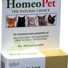 HOMEOPET SOLUTIONS HOMEOPET WORM Clear Cat 15ml ~Product for Cats