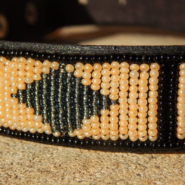 Beadle african beaded collar brown diamond