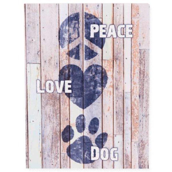 Pallet Box Peace Love Dog