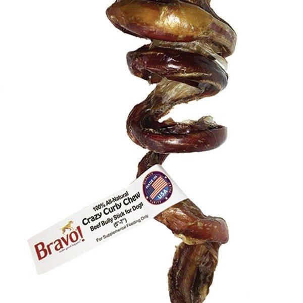 bravo Bravo Crazy Curly 5-7 Beef Chew Bully Sticks