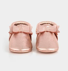 Freshly Picked newborn bow mocc- rose gold