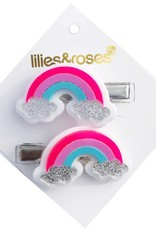 Lilies & Roses rainbow hairclips
