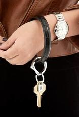 Big O Key Ring back in black crocodile