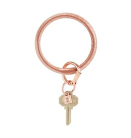 Big O Key Ring rose gold crocodile