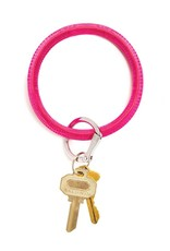 Big O Key Ring tickled pink lizard