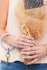 Big O Key Ring lavender ostrich