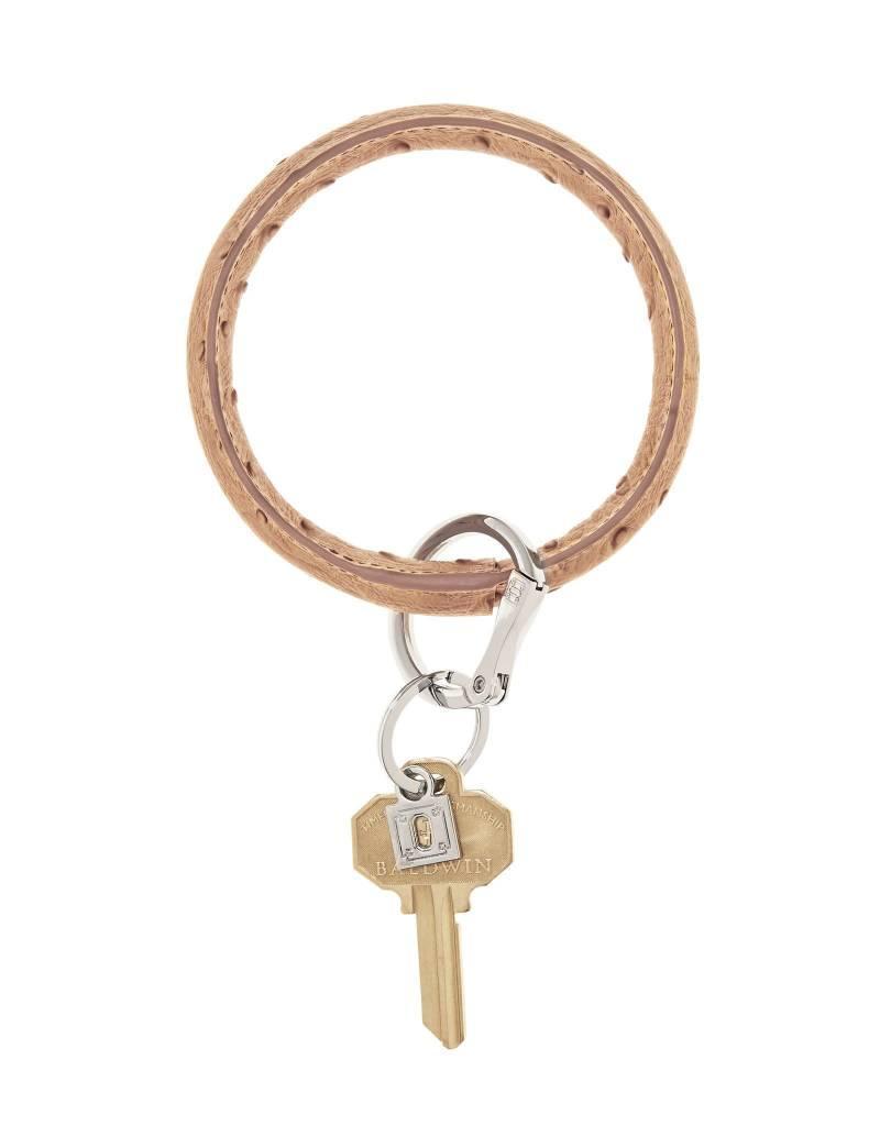 Big O Key Ring mocha ostrich