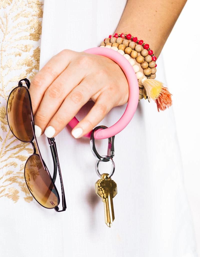 Big O Key Ring cotton candy silicone