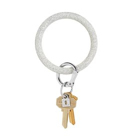 Big O Key Ring silver confetti silicone