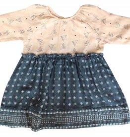 Lali Kids mallory dress- mixed print navy