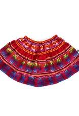 Folklore julia layered skirt baby- cherry