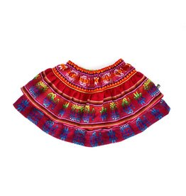 Folklore julia layered skirt baby- cherry