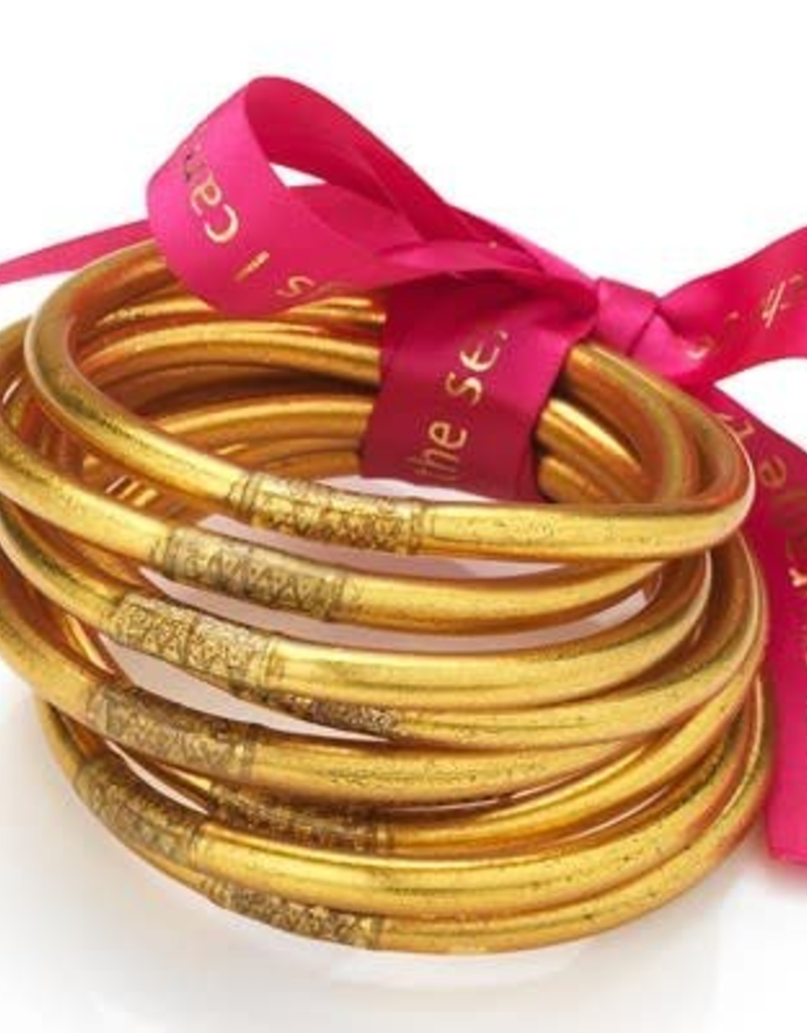 BuDhaGirl bangles (set of 9)- gold
