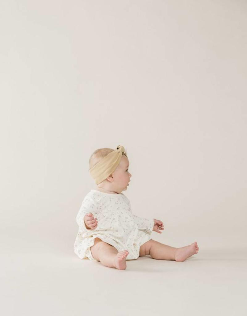 Quincy Mae l/s baby dress- ivory stars