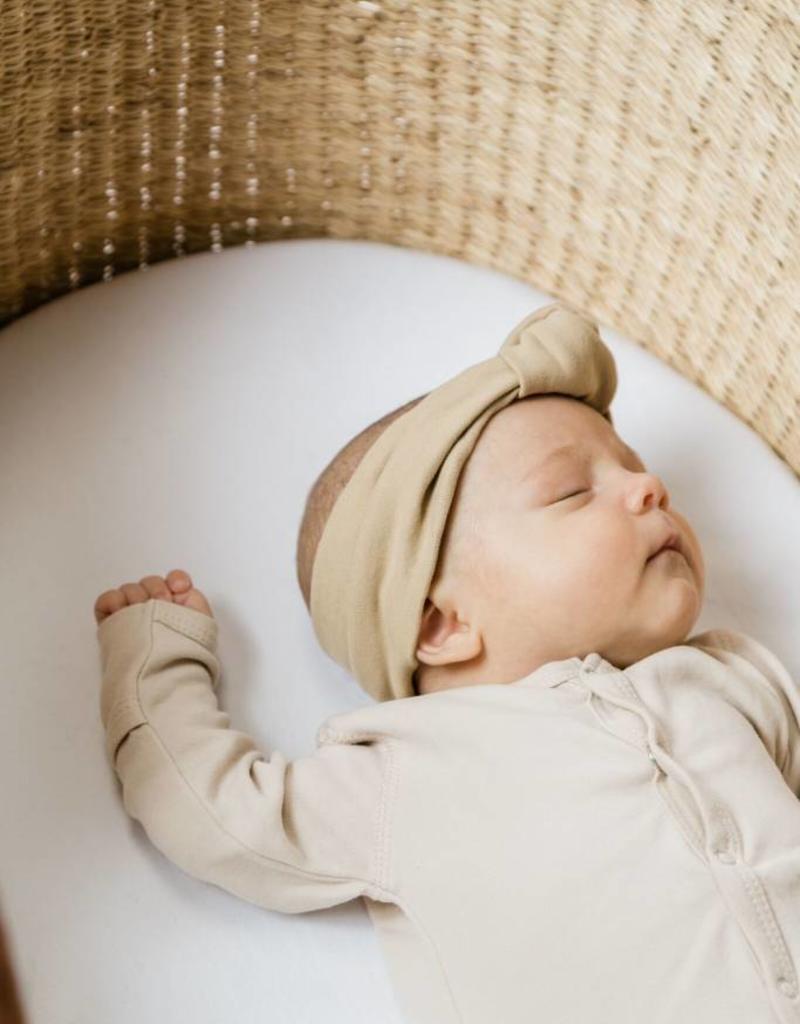 Quincy Mae baby turban- bone