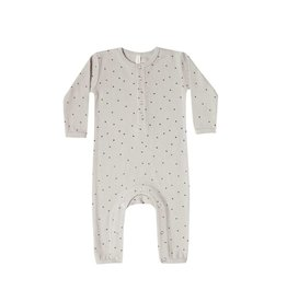Quincy Mae ribbed baby jumpsuit- dove