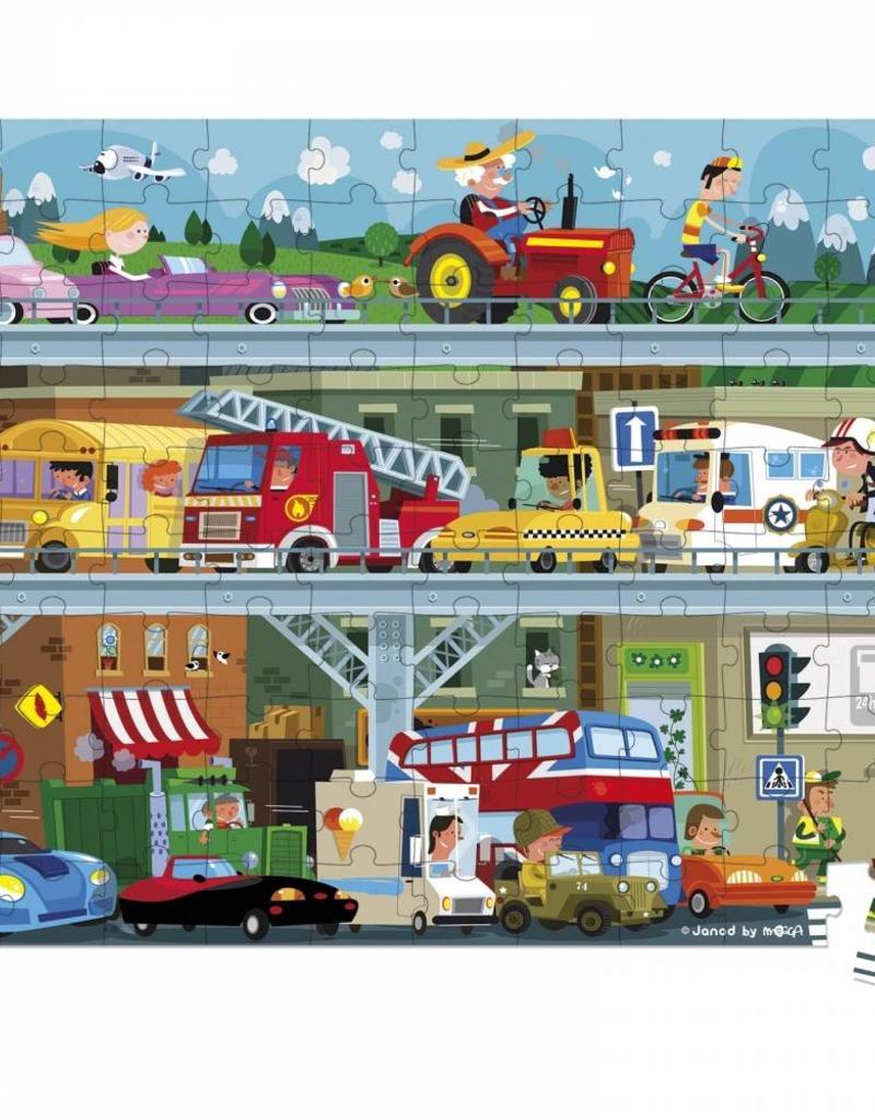 Janod vehicles puzzle- 100 pc