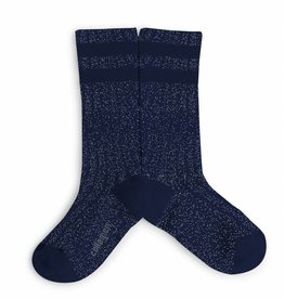Collegien glitter varsity socks- night