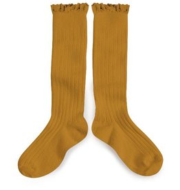Collegien lace knee highs- mustard