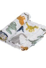 Little Unicorn cotton muslin swaddle- dino friends