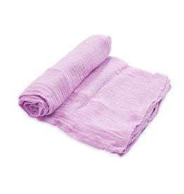 Little Unicorn cotton muslin swaddle- pink lilac
