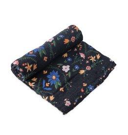 Little Unicorn cotton muslin swaddle- floral stitch