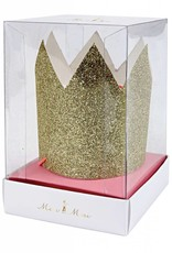 Meri Meri mini gold glitter crowns