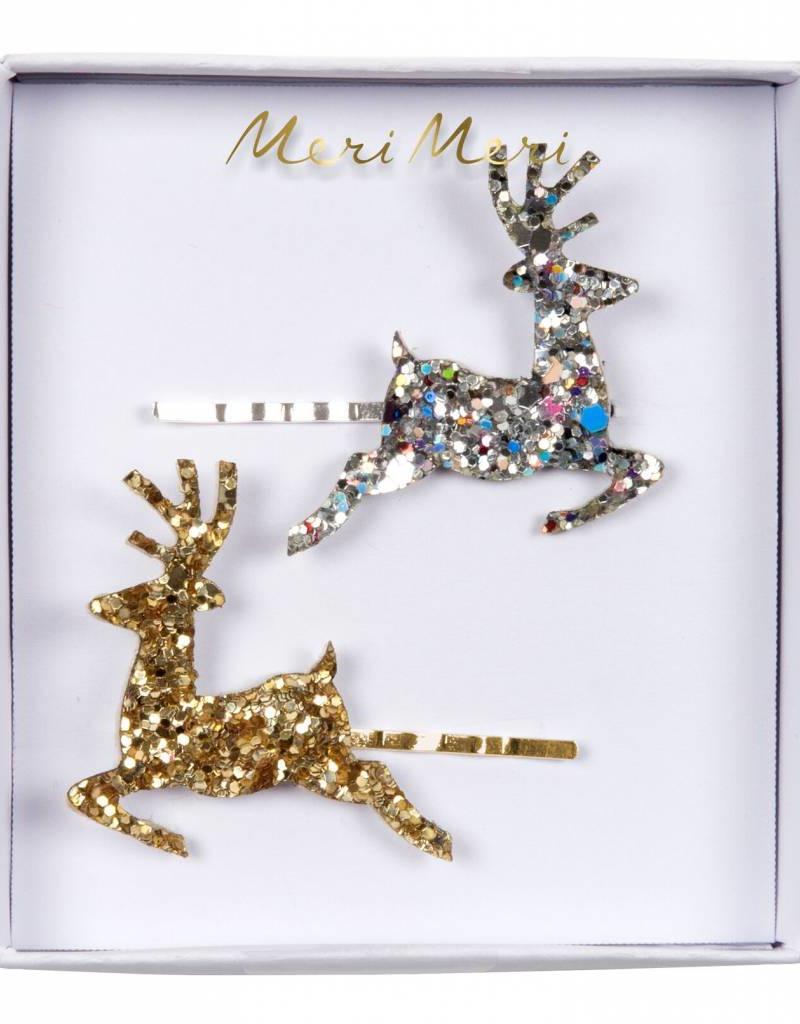 Meri Meri glitter reindeer hairclips