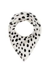 Noé & Zoë drool scarf- black drops