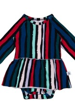 Noé & Zoë skirted body- winter stripes