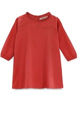 Go Gently Nation ruffle neck dress- red