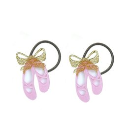 Lilies & Roses ballet slippers ponytail holders