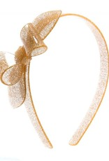 Lilies & Roses HB big bow- gold glitter