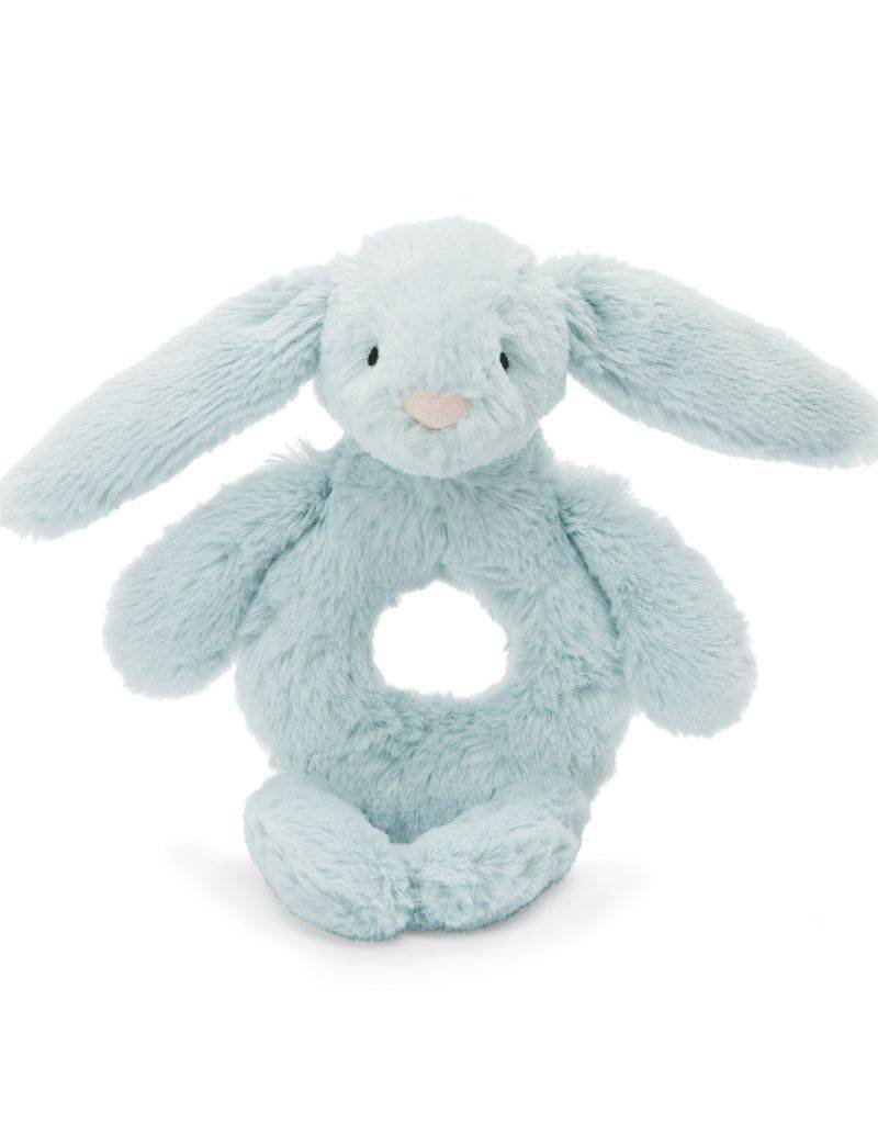 Jellycat blue bunny ring rattle