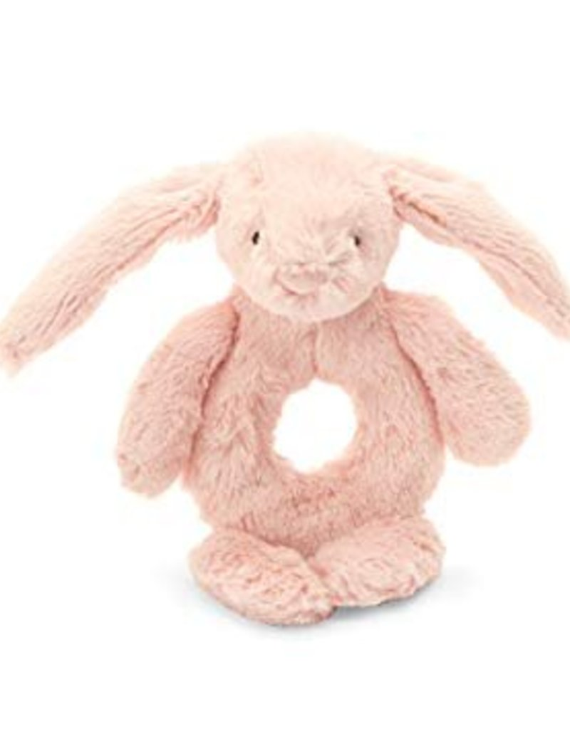 Jellycat blush bunny ring rattle