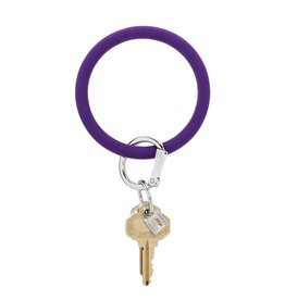 Big O Key Ring deep purple silicone