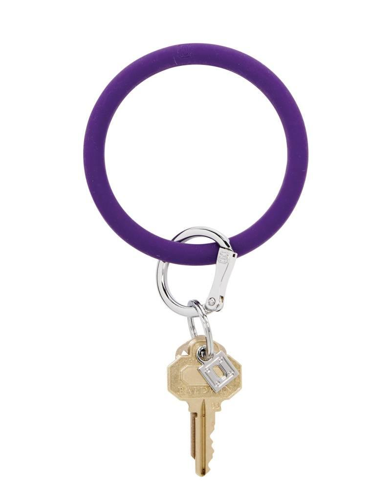 Big O Key Ring deep purple silicone