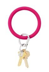 Big O Key Ring i scream pink silicone