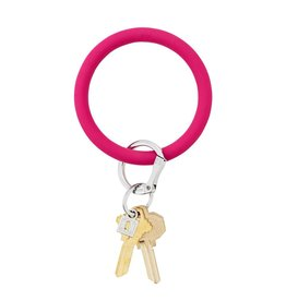 Big O Key Ring i scream pink silicone