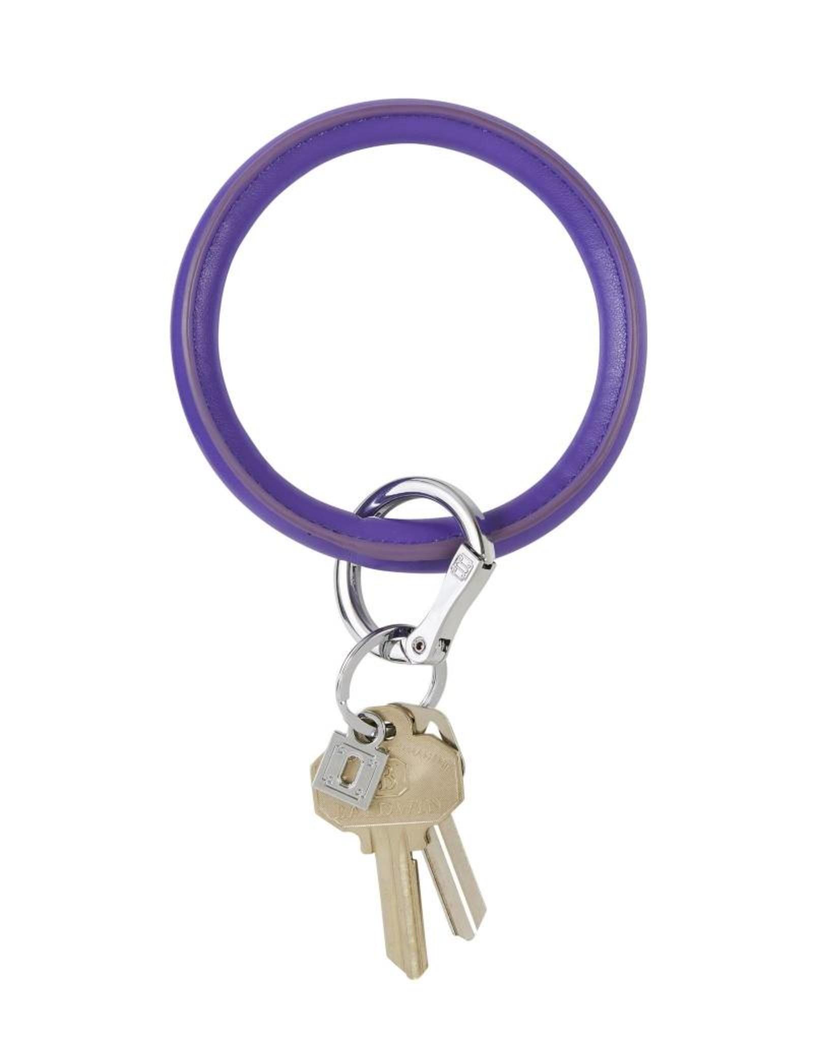 Big O Key Ring deep purple vegan