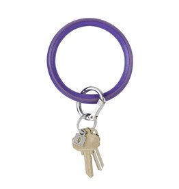 Big O Key Ring deep purple vegan