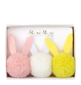 Meri Meri bunny pom pom hairbands