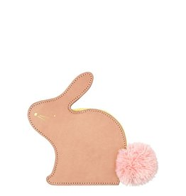Meri Meri leather bunny coin purse