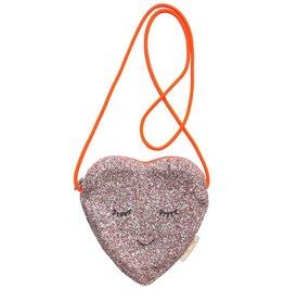 Meri Meri glitter heart crossbody bag