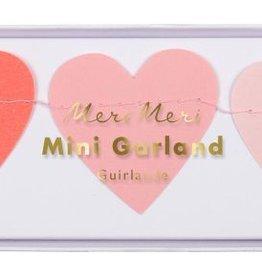 Meri Meri tissue hearts mini garland