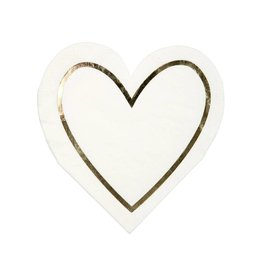 Meri Meri gold heart outline napkins