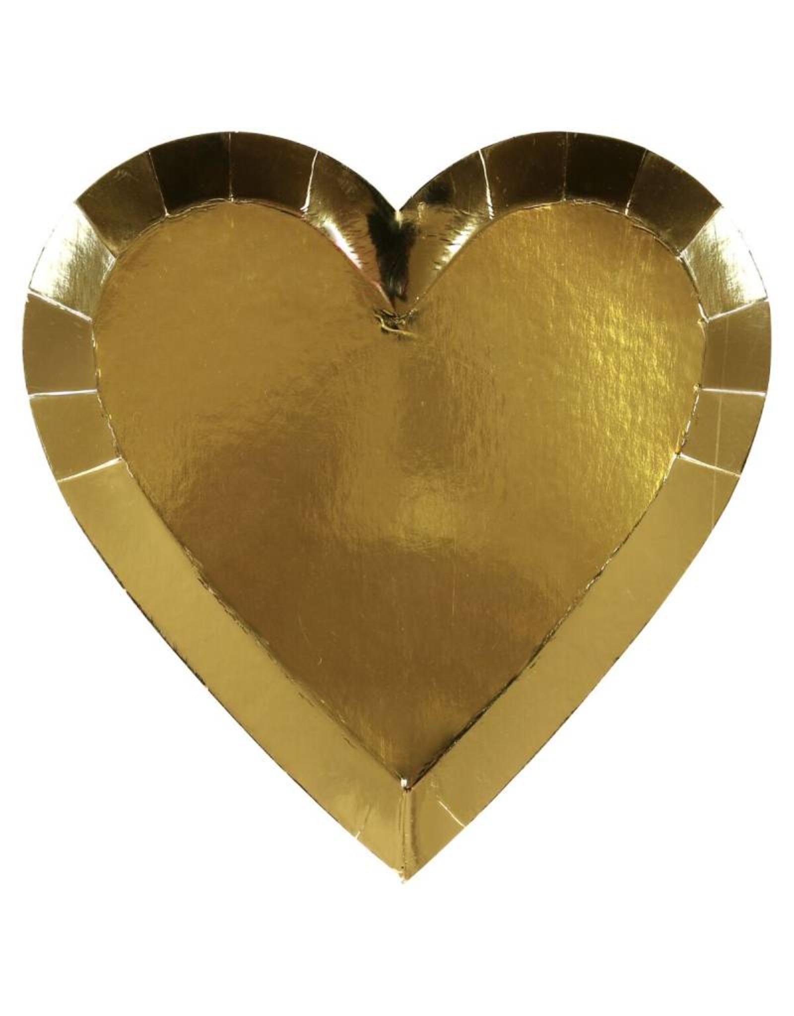 Meri Meri gold heart plates
