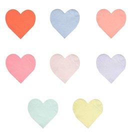 Meri Meri pastel palette heart napkins
