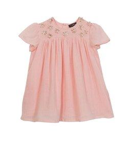 Velveteen skye dress - salt cotton gauze